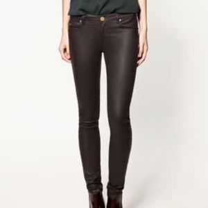 Zara leara slim fit faux leather pants